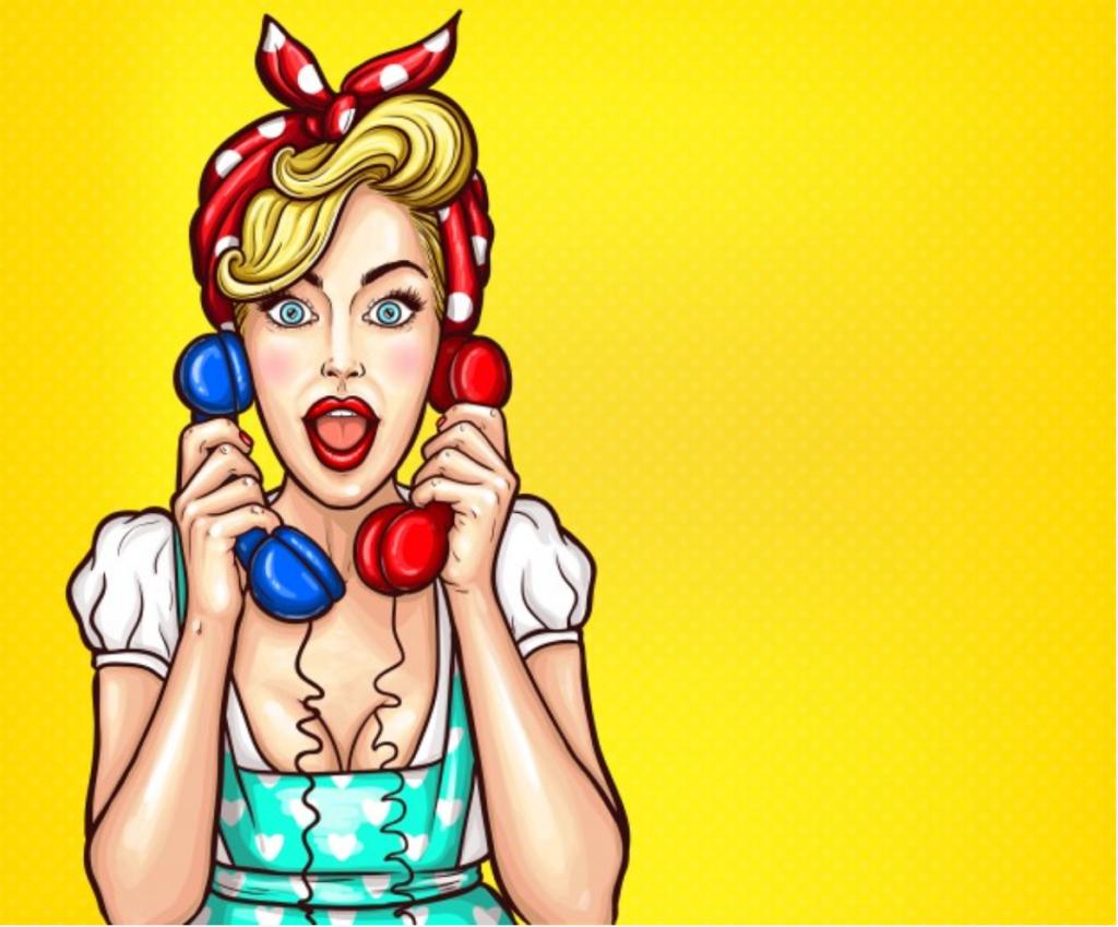 pin up girl-telefon