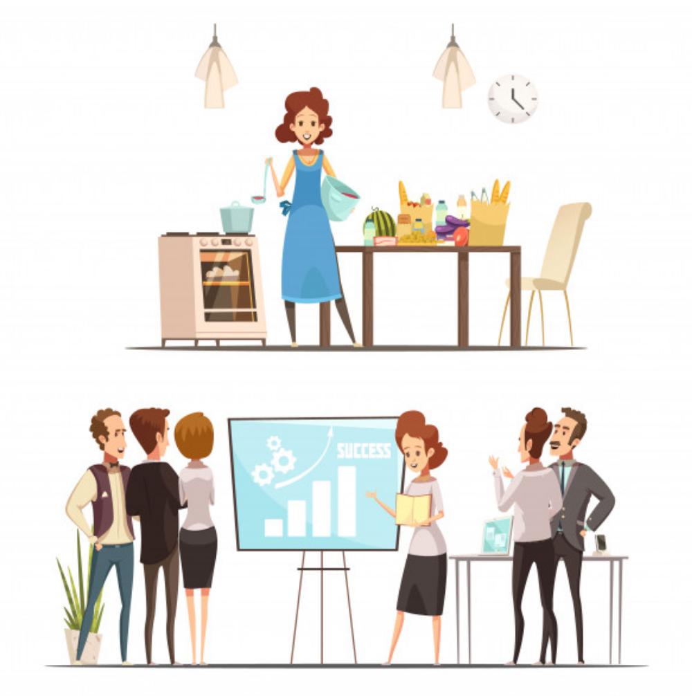 kobieta-dom-biuro-praca